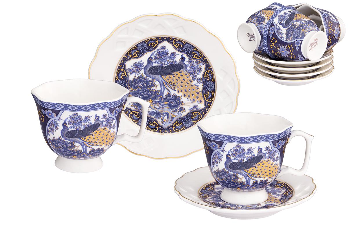 Кофейный набор Elan Gallery Павлин синий, 12 предметов181002Кофейный сервиз Elan Gallery Павлин синий на 6 персон.Набор включает 6 чашек объемом 130 мл, 6 блюдец, и станет достойным подарком для любителей кофе.Соберите всю коллекцию предметов сервировки Павлин синий и Ваши гости будут в восторге!
