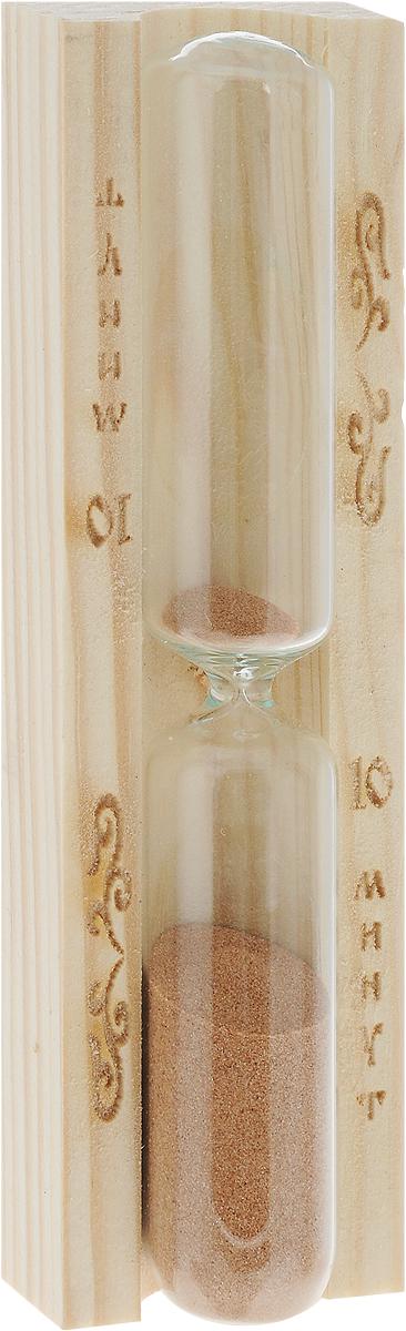 """Песочные часы """"Доктор Баня"""" выполнены из дерева и  термостойкого стекла. Они предназначены для использования  в бане и сауне. Часы не боятся высоких температур и  влажности. Благодаря таким часам, вы сможете правильно  определить длительность процедур. Часы рассчитаны на 10  минут. Размер изделия:  3 х 4,3 х 15 см."""