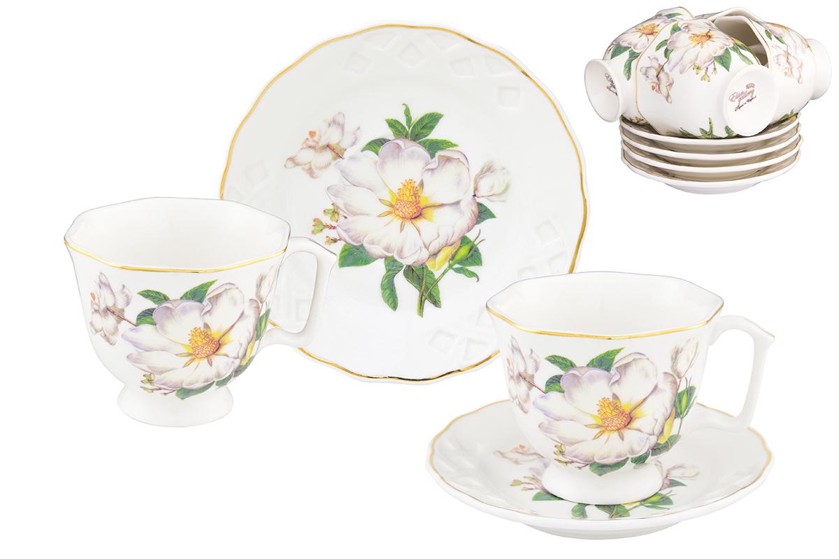 Кофейный набор Elan Gallery Белый шиповник, 12 предметов соусники elan gallery соусник белый шиповник