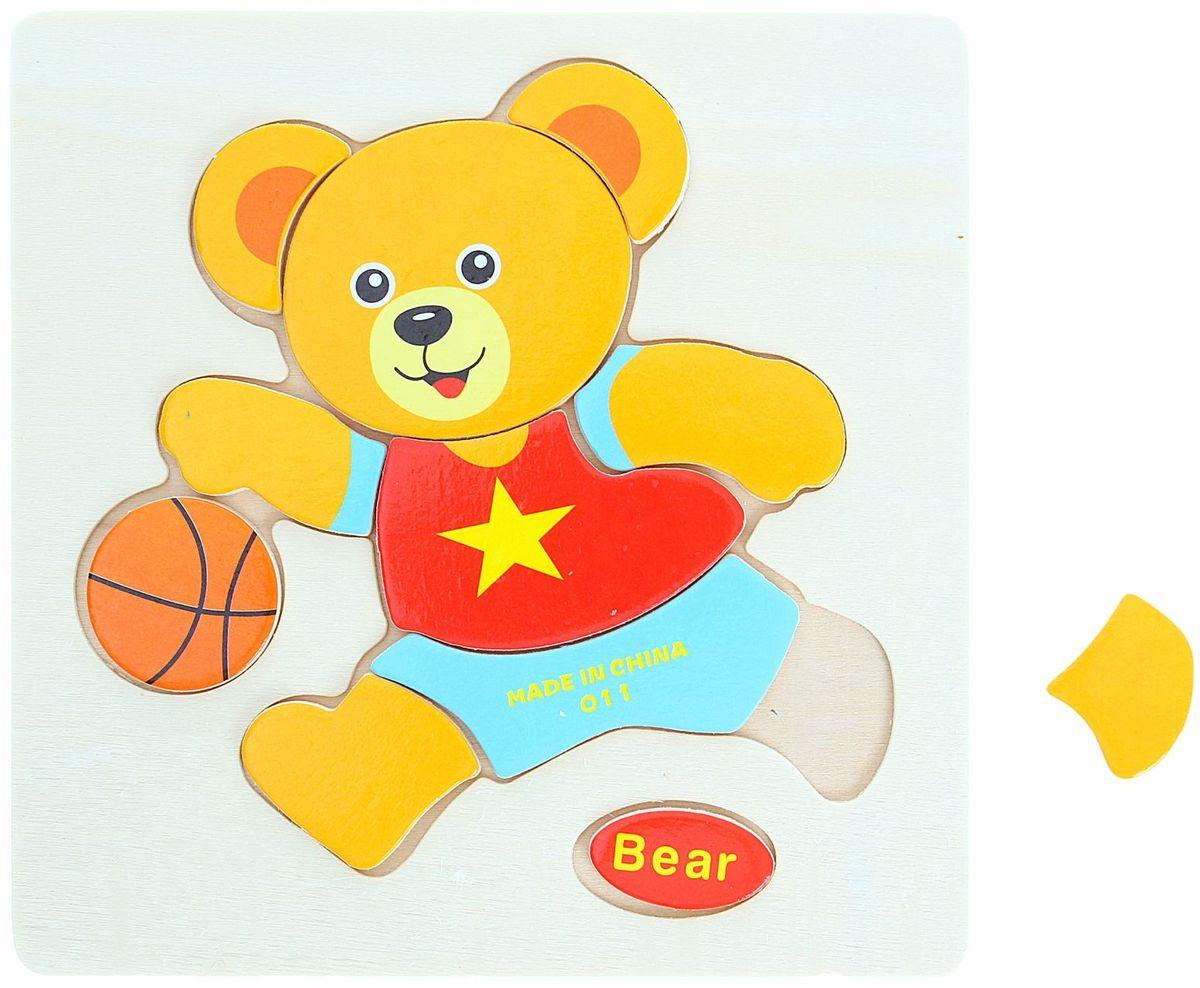 цена на Лесная мастерская Пазл для малышей Медвежонок 1101925
