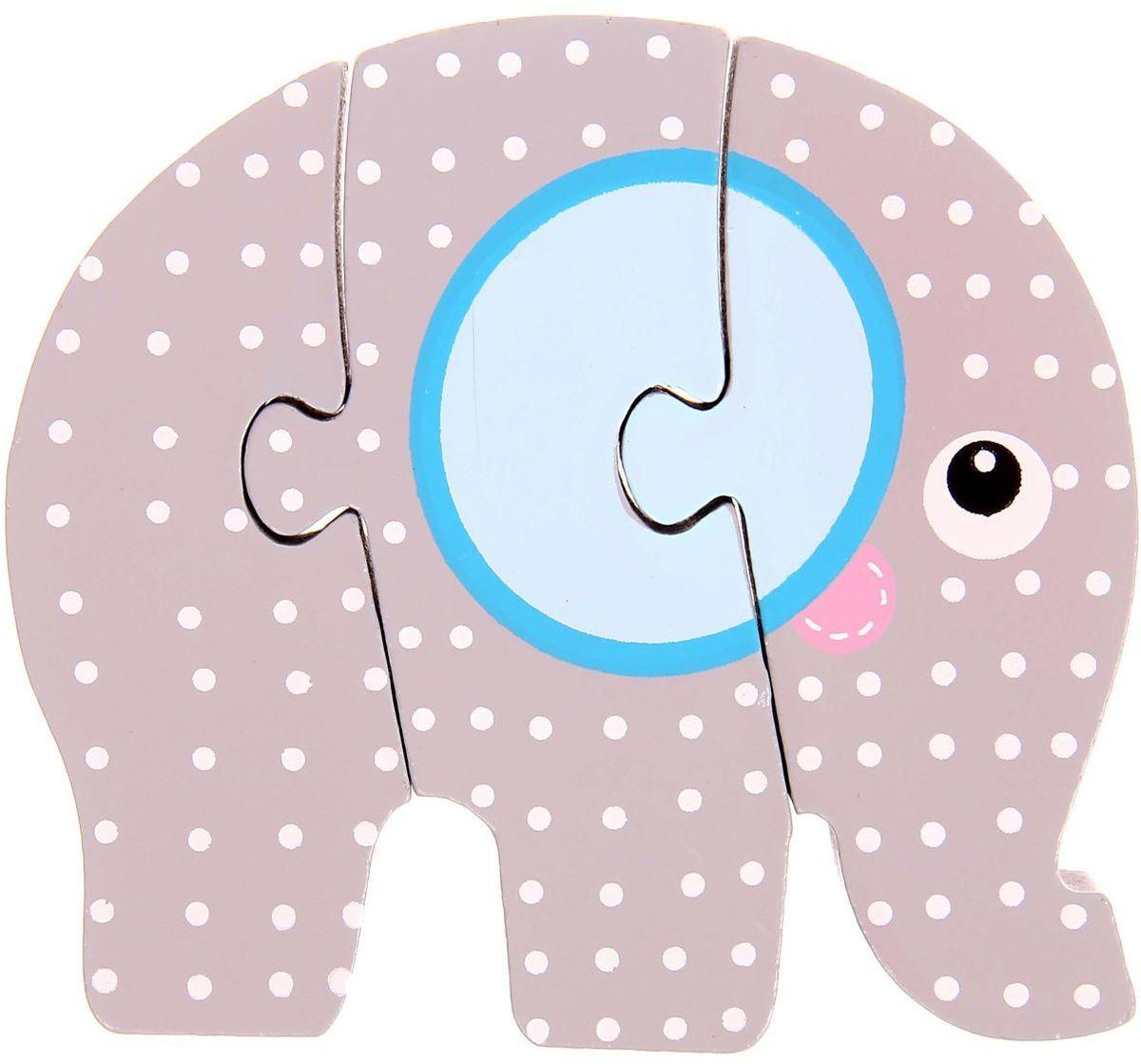 Лесная мастерская Пазл для малышей Слон 1160411 лесная мастерская пазл для малышей лисичка