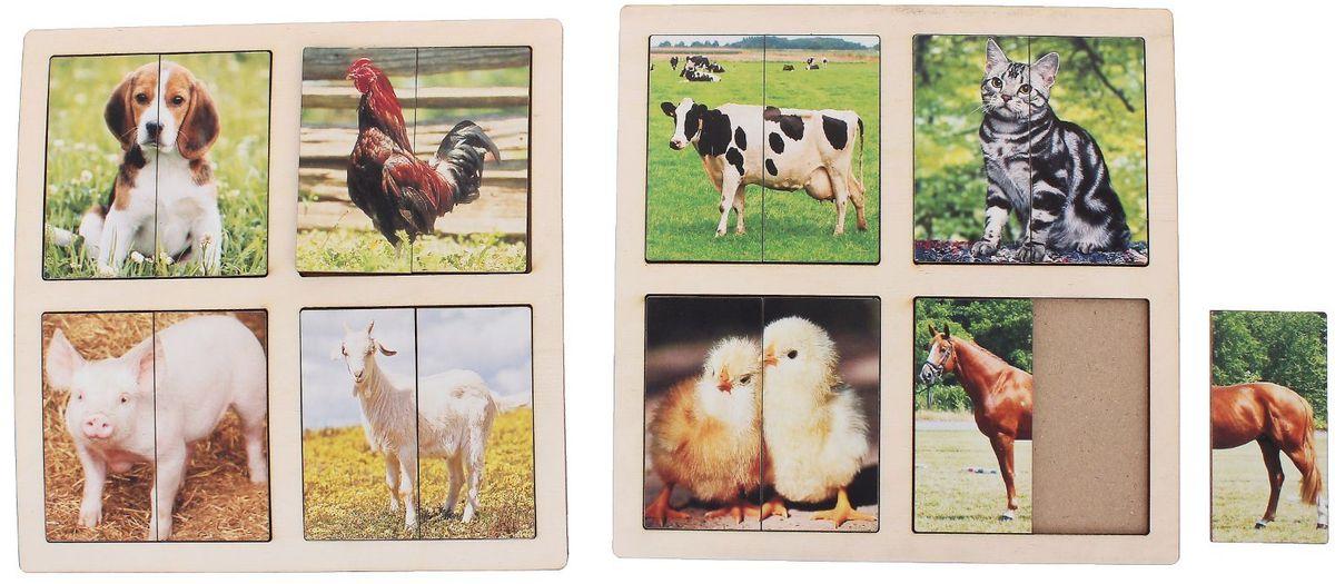 """Smile Decor Пазл для малышей Картинки-половинки Домашние животные 1187596, ИП """"Монжаев С.М."""""""