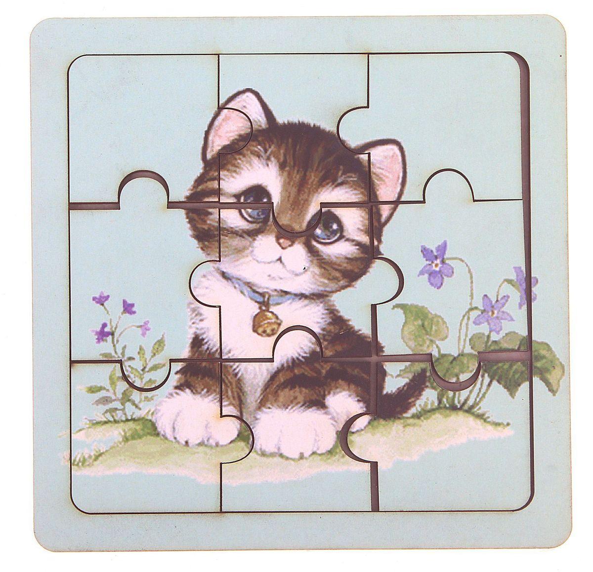 Smile Decor Пазл для малышей Котик smile decor пазл для малышей мишка