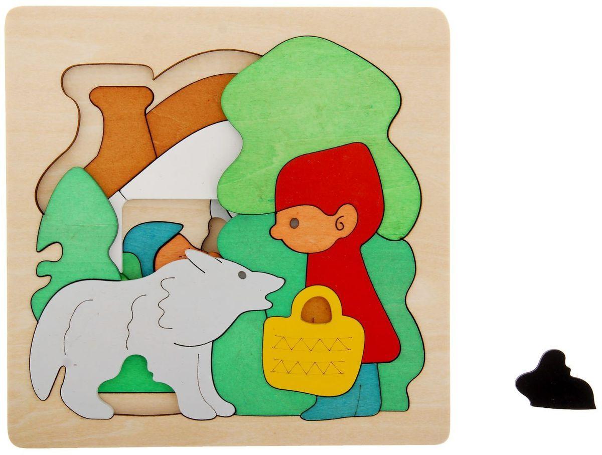 Лесная мастерская Пазл для малышей многослойный Красная шапочка