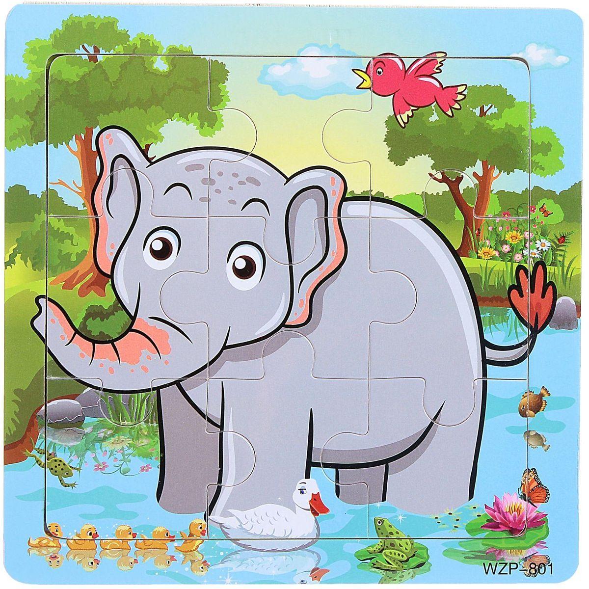 Лесная мастерская Пазл для малышей Слон 1670436 лесная мастерская пазл для малышей лисичка