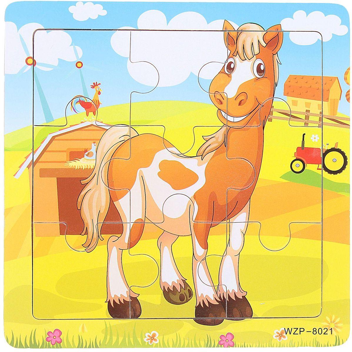 цена на Лесная мастерская Пазл для малышей Лошадь