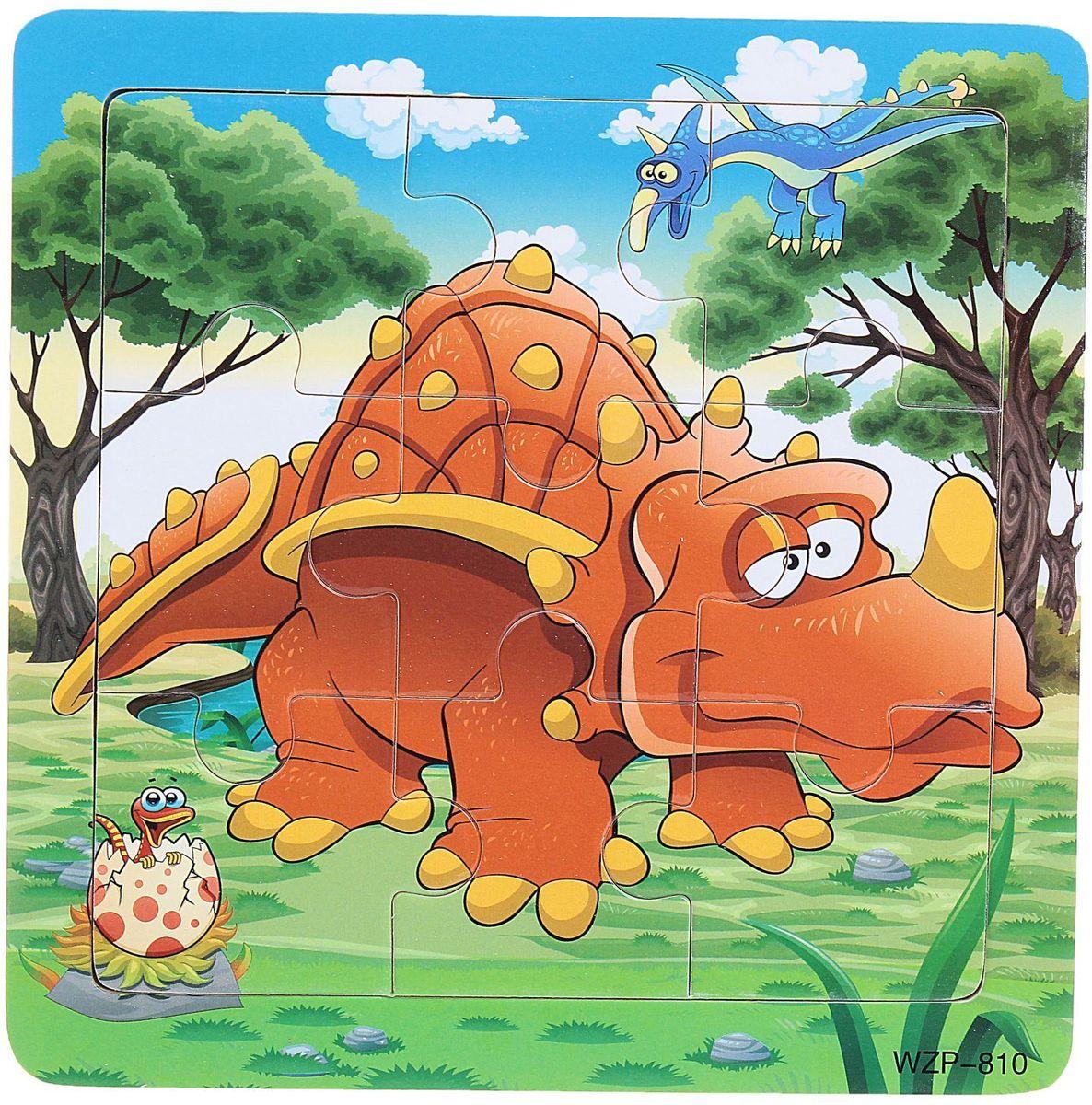 цена на Лесная мастерская Пазл для малышей Стиракозавр