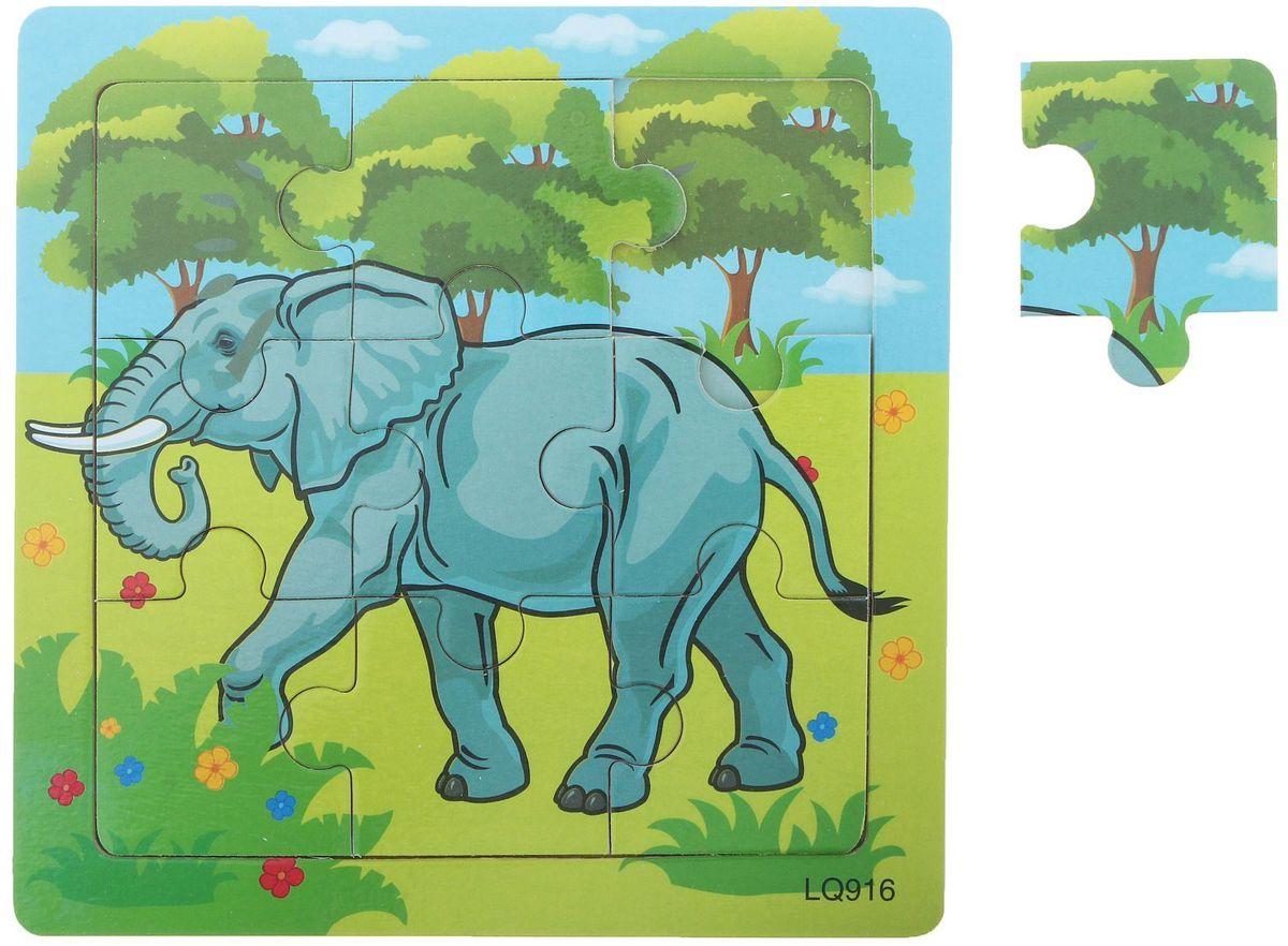 Лесная мастерская Пазл для малышей Слон в саванне гаврилова светлана сергеевна в саванне книжка пазл