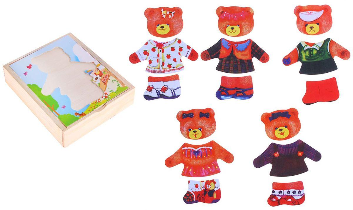 Лесная мастерская Пазл для малышей Мишка 438990 smile decor пазл для малышей мишка