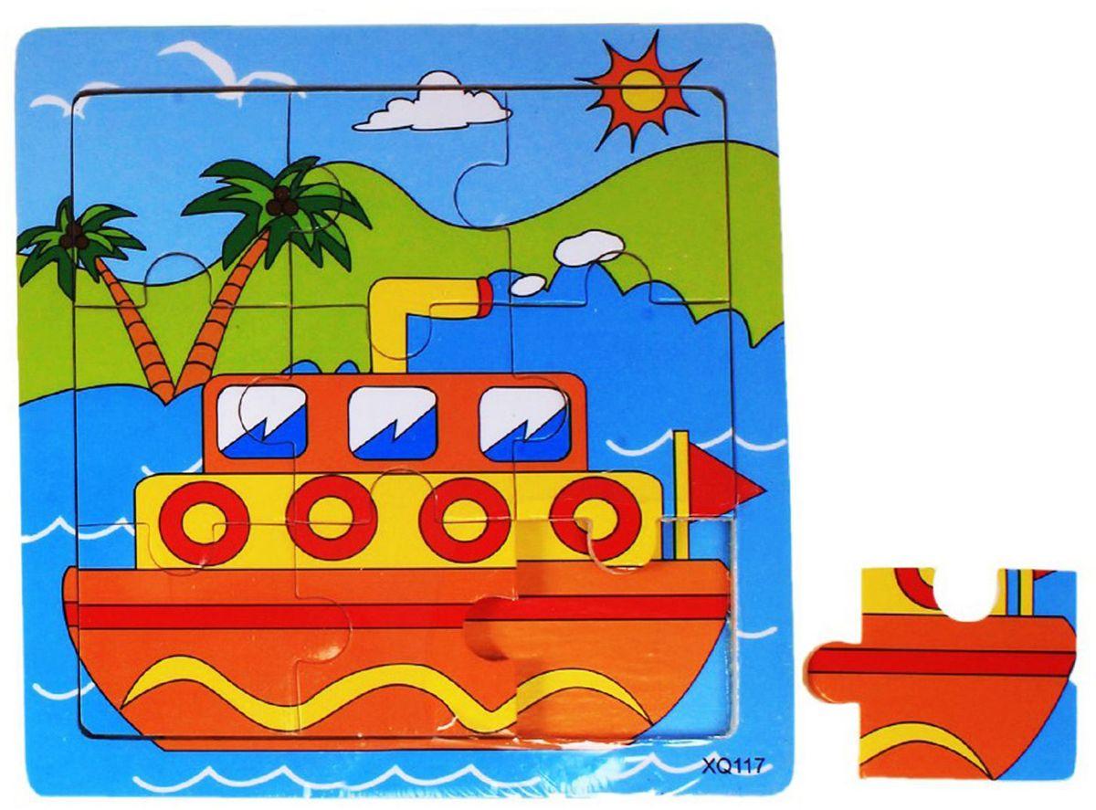 Лесная мастерская Пазл для малышей Кораблик 534979 3d пазлы деревянные пазлы деревянные игрушки летательный аппарат автомобиль 3d своими руками 3d дерево классика универсальные подарок