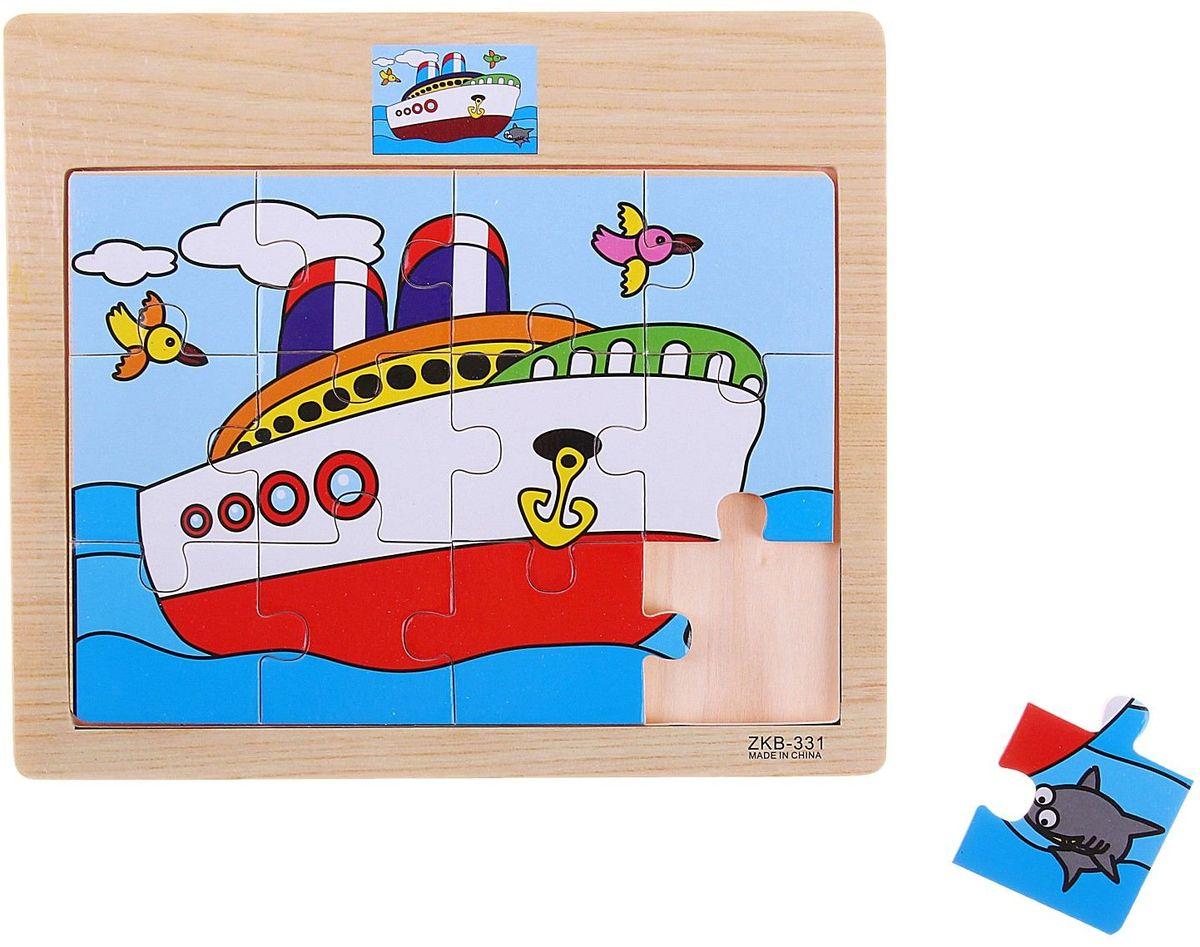 Лесная мастерская Пазл для малышей Пароход 763090 томик пазлы объемные пароход 16д