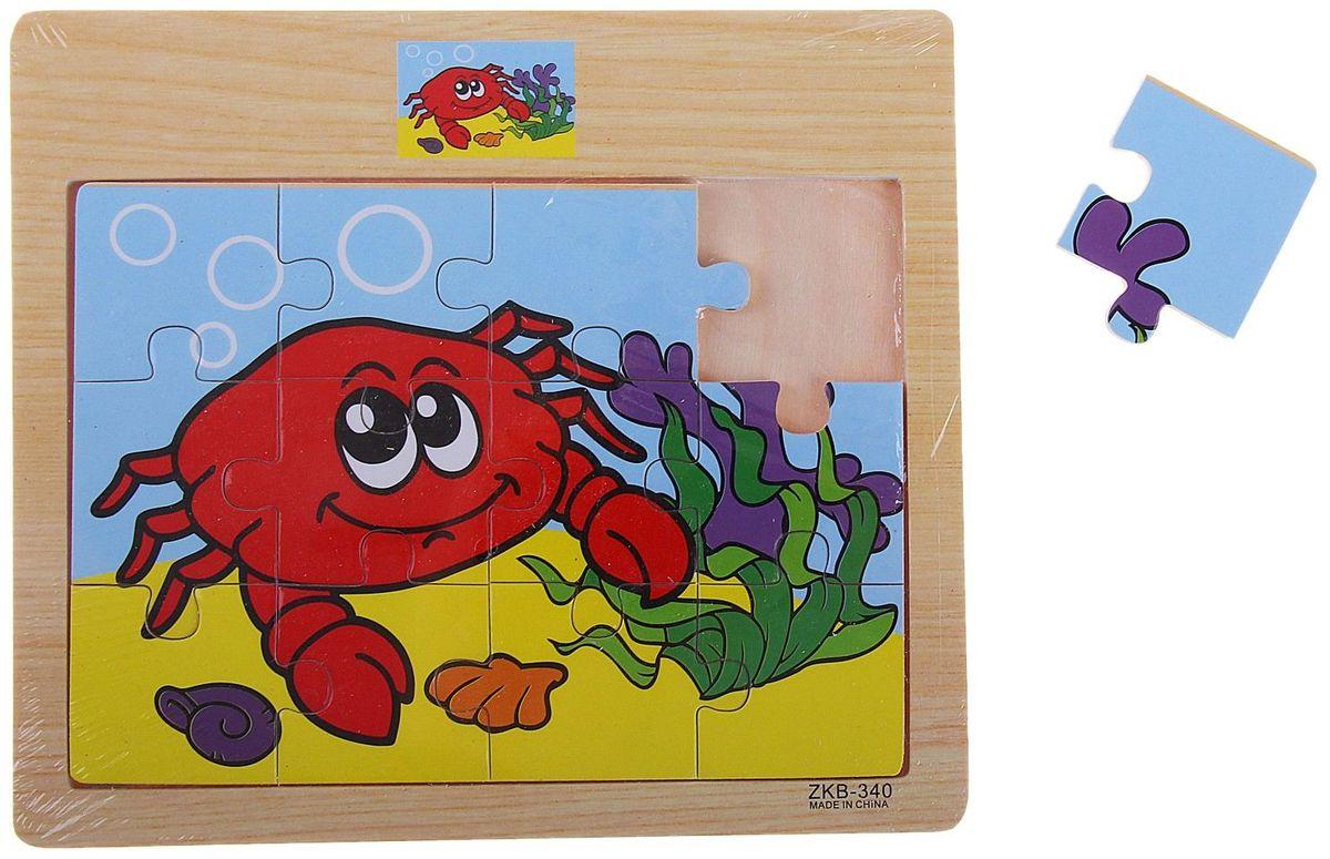 Лесная мастерская Пазл для малышей Крабик 3d пазлы пазлы деревянные игрушки наборы для моделирования мебель 3d своими руками дерево классика универсальные подарок