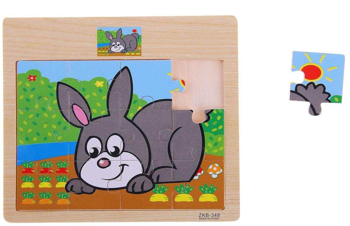 Лесная мастерская Пазл для малышей Зайка в огороде пазлы crystal puzzle 3d головоломка вулкан 40 деталей