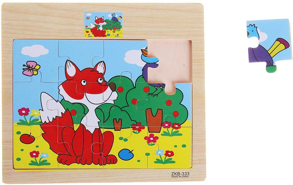 Лесная мастерская Пазл для малышей Лиса и птичка пазлы crystal puzzle 3d головоломка вулкан 40 деталей