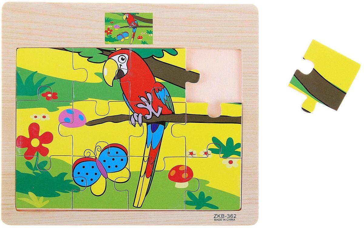 Лесная мастерская Пазл для малышей Попугайчик пазлы бомик пазлы книжка репка