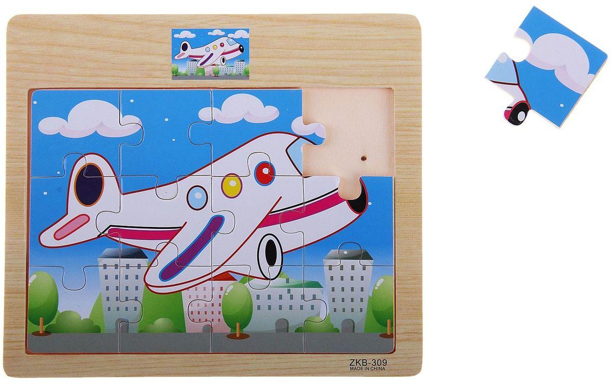 Лесная мастерская Пазл для малышей Самолетик 3d пазлы пазлы деревянные игрушки наборы для моделирования мебель 3d своими руками дерево классика универсальные подарок