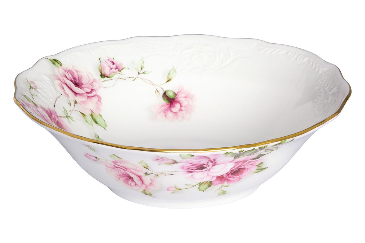 Салатник Elan Gallery Амалия, 420 мл530078Великолепный салатник Elan Gallery Амалия, изготовленный из высококачественного фарфора, прекрасно подойдет для подачи различных блюд: закусок, салатов или фруктов. Такой салатник украсит ваш праздничный или обеденный стол, а оригинальное исполнение понравится любой хозяйке. Не рекомендуется применять абразивные моющие средства. Не использовать в микроволновой печи.Диаметр салатника (по верхнему краю): 15 см.Высота салатника: 4,5 см.