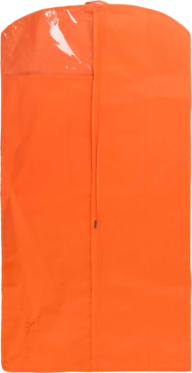 Чехол для одежды LarangE, с окошком, цвет: оранжевый, 120 х 60 см625-422_оранжевыйЧехол для одежды LarangE изготовлен из спанбонда и оснащен застежкой-молнией. Особое строение полотна создает естественную вентиляцию: материал дышит и позволяет воздуху свободно проникать внутрь чехла, не пропуская пыль. Прозрачное окошко позволяет видеть содержимое чехла. Чехол для одежды будет очень полезен при транспортировке вещей на близкие и дальние расстояния, при длительном хранении сезонной одежды, а также при ежедневном хранении вещей из деликатных тканей. Чехол для одежды LarangE защитит ваши вещи от повреждений, пыли, моли, влаги и загрязнений.