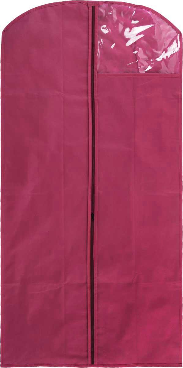 Чехол для одежды LarangE, с окошком, цвет: малиновый, 120 х 60 см625-422_малиновыйЧехол для одежды LarangE изготовлен из спанбонда и оснащен застежкой-молнией. Особое строение полотна создает естественную вентиляцию: материал дышит и позволяет воздуху свободно проникать внутрь чехла, не пропуская пыль. Прозрачное окошко позволяет видеть содержимое чехла. Чехол для одежды будет очень полезен при транспортировке вещей на близкие и дальние расстояния, при длительном хранении сезонной одежды, а также при ежедневном хранении вещей из деликатных тканей. Чехол для одежды LarangE защитит ваши вещи от повреждений, пыли, моли, влаги и загрязнений.