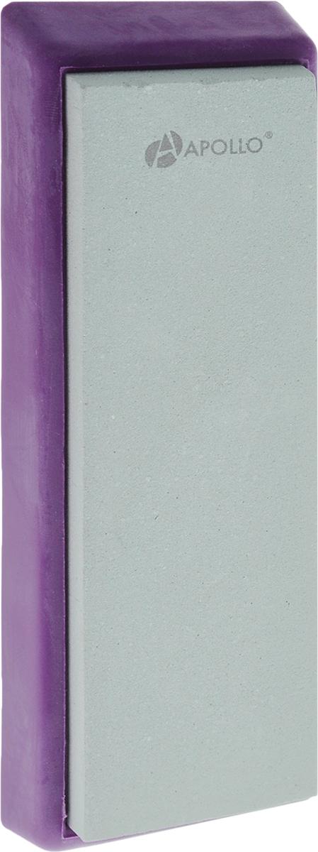 Точильный камень Apollo Zorro, цвет: фиолетовый, светло-зеленый, 4 х 13 смZRR-01_фиолетовыйТочильный камень Apollo Zorro, изготовленный из зеленогокарборунда, предназначен для основной заточки кухонныхножей из нержавеющей стали с прямым лезвием и одинаковоудобен как для правшей, так и для левшей. Камень расположенна подставке, которая не скользит, чем обеспечиваетсядополнительный комфорт и безопасность во время процессазаточки. Зернистость камня: 1000. Размер камня: 4 х 13 см. Размер камня с подставкой: 5 х 14,5 х 1,5 см.