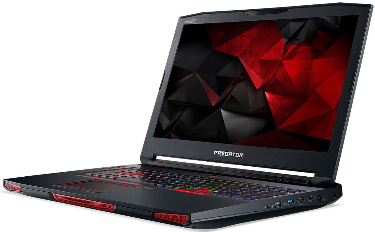 Acer Predator 17X GX-791, Black (GX-791-747Q)GX-791-747QРаскройте весь свой потенциал благодаря ноутбуку Acer Predator 17X GX-791 с производительностью игрового настольного компьютера.NVIDIA G-Sync обеспечивает плавность игрового процесса за счет синхронизации кадров, обработанных графических процессором, с частотой обновления изображения на экране ноутбука. Это полностью устраняет прерывистость и искажения изображения.Потенциал этого устройства поистине безграничен. Ноутбук оснащен новейшим процессором Intel Core i7 6-го поколения с разблокированным множителем и графической системой.Специально разработанная система охлаждения с тремя вентиляторами и фронтальным забором воздуха позволит раскрыть весь потенциал железа. Ультратонкий (0,1 мм) металлический вентилятор AeroBlade имеет улучшенную аэродинамику и обеспечивает превосходный обдув для охлаждения и очистки системы.PredatorSense позволит контролировать и настраивать различные игровые параметры: от RGB-подсветки клавиатуры до оверклокинга. Отслеживайте температуру системы и процессора, а также скорость вращения вентиляторов в реальном времени. Разноцветную подсветку каждой клавиши и программируемые горячие клавиши можно полностью настроить по своему желанию.Ускорьте работу с помощью 3 SATA в RAID 0 или твердотельного накопителя PCIe NVMe. USB-C Thunderbolt 3 ускорит передачу данных и зарядку, а Killer DoubleShot Pro оптимизирует пропускную способность.Точные характеристики зависят от модели.Ноутбук сертифицирован EAC и имеет русифицированную клавиатуру и Руководство пользователя.