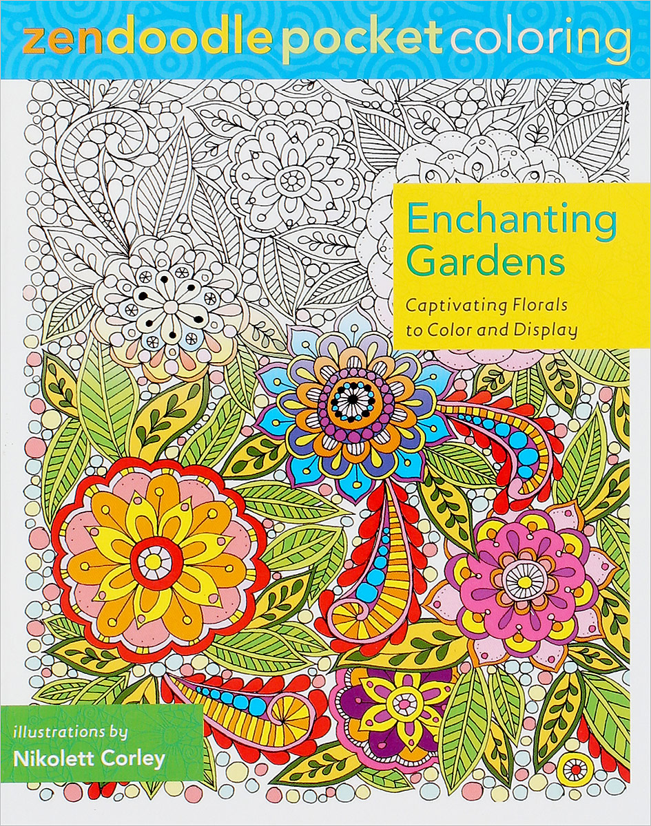 Zendoodle Pocket Coloring: Enchanting Gardens: Captivating Florals to Color and Display my own very busy spider coloring book