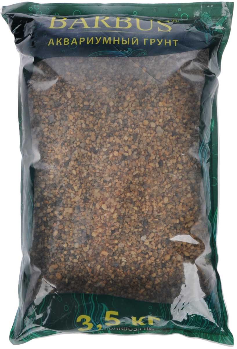 Грунт для аквариума Barbus Горный, натуральный, кварц, 2-7 мм, 3,5 кг грунт для аквариума barbus феодосия 4 натуральный галька 20 40 мм 3 5 кг