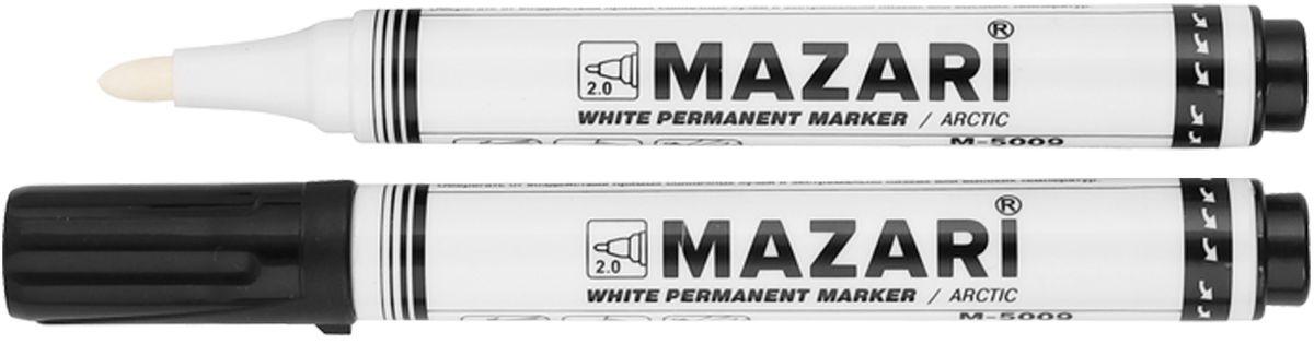 Mazari Маркер перманентный Arctic перезаправляемый цвет белыйМ-5009Маркер Mazari Arctic подходит для письма на любых поверхностях. Маркер имеет пулевидную форму наконечника. Толщина линии - 1,5 мм.