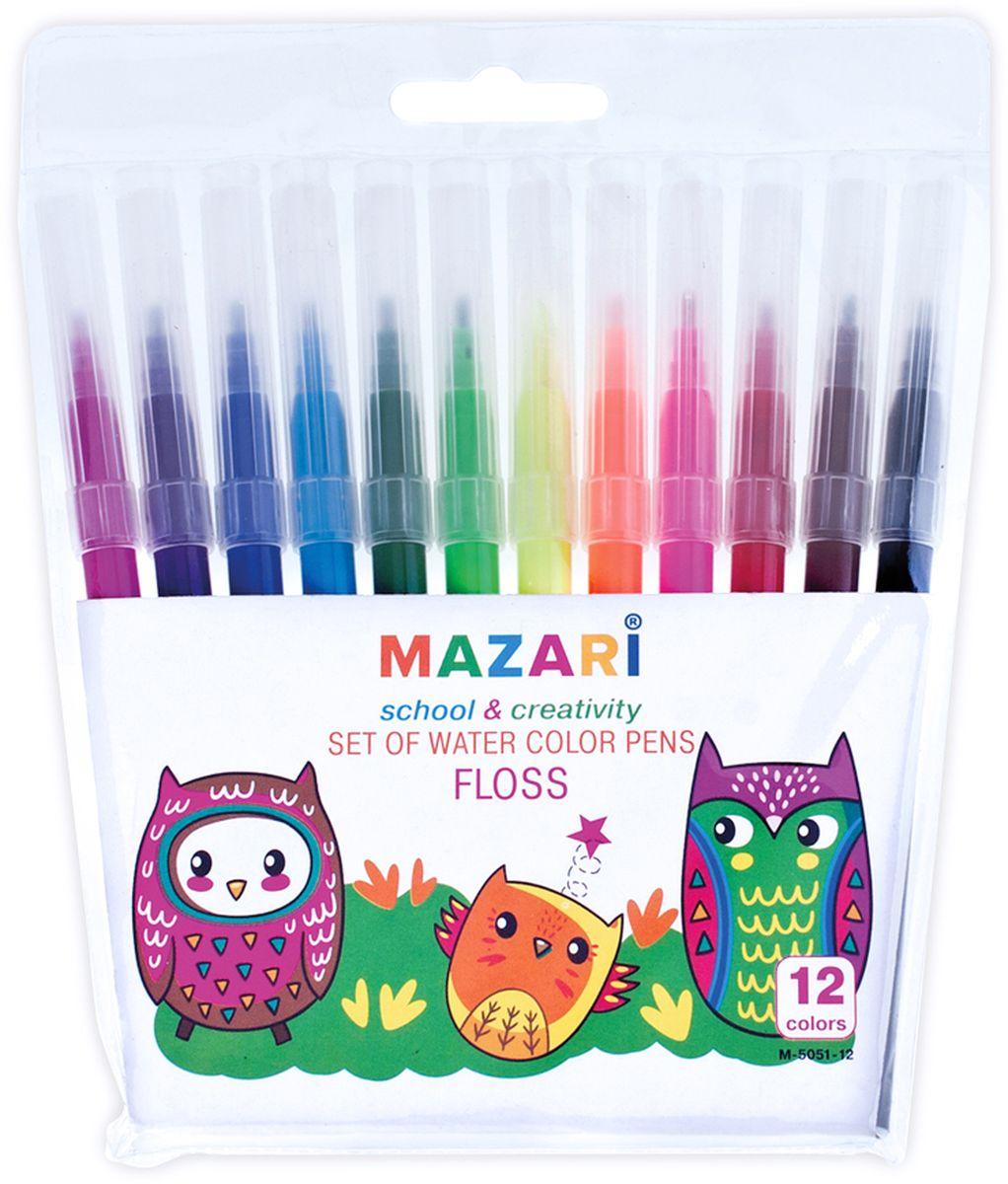 Mazari Набор фломастеров Floss 12 цветов mazari ножницы детские meer 12 см