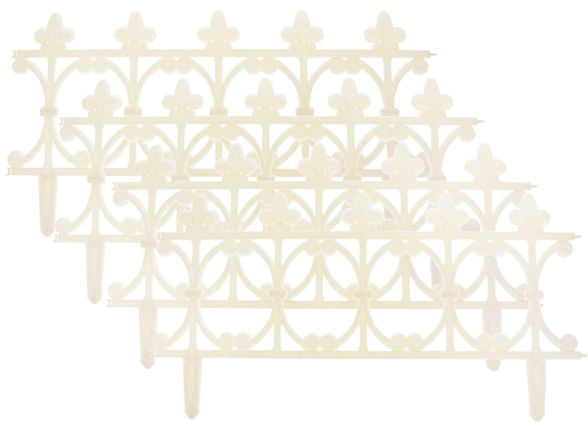 Ограждение садовое декоративное InGreen Корсика, 4 штING60008СЛК-13РОграждение садовое InGreen Корсика предназначено для декоративного оформления границ цветников, клумб, газонов, садовых дорожек и площадок. Изделие изготовлено из прочного полипропилена. Легко и быстро собирается, надежно крепится в земле. Скрепляются при помощи простого замка.Размер ограждения: 64,5 х 0,8 х 34 см.Количество ограждений в упаковке: 4 шт.