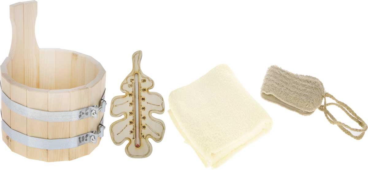 Набор для бани и сауны Доктор Баня  Подарочный №1 , 4 предмета -  Баня, сауна