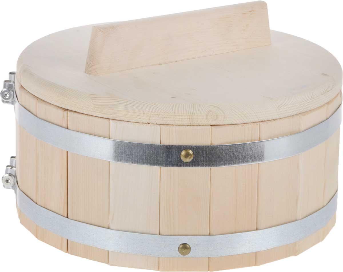 Кадка для бани Доктор Баня, 5 л. 83278327Кадка Доктор Баня, изготовленная из кедра, доставит вам настоящее удовольствие от банной процедуры. При запаривании веник обретает свою природную силу и сохраняет полезные свойства. Корпус кадки состоит из металлических обручей стянутых клепками. Для более удобного использования кадка снабжена крышкой с ручкой.Высота кадки (с учетом крышки): 19,5 см.Диаметр кадки: 30,5 см. Объем: 5 л.