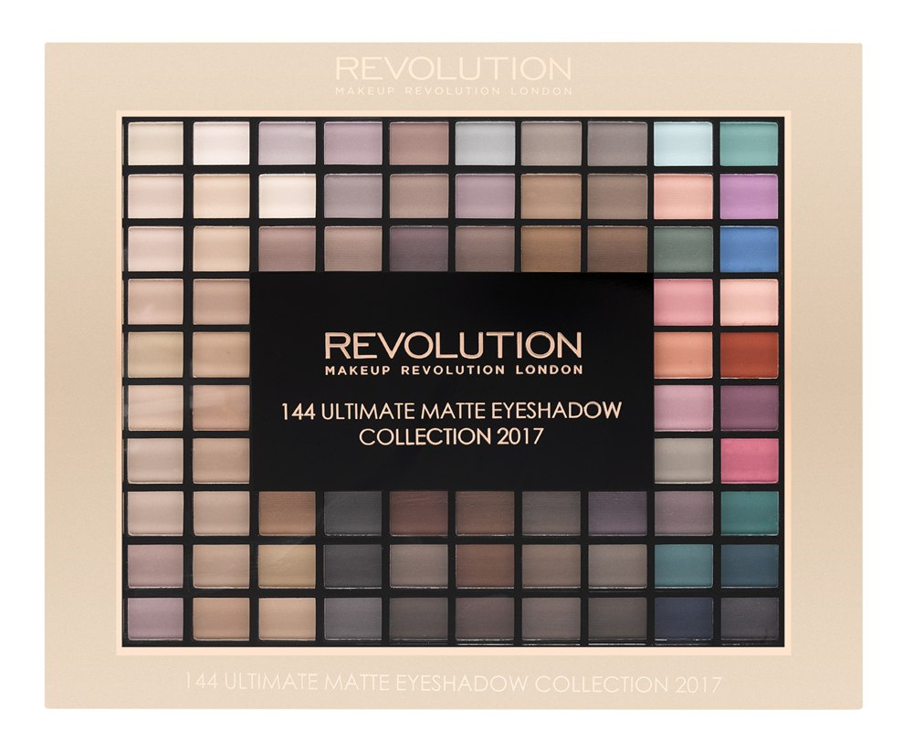 Makeup Revolution Набор из 144 теней Ultimate Matte Eyeshadow Collection 2017 sephora vintage filter палетка теней vintage filter палетка теней