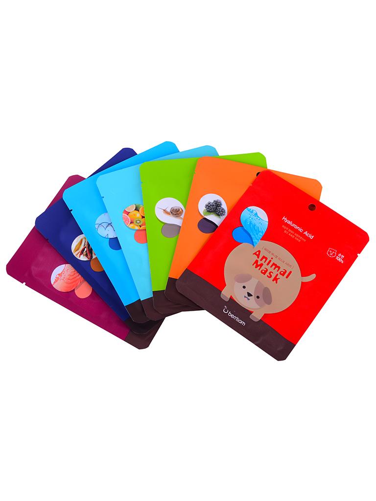 Berrisom Набор тканевых масок Animal Mask Series Set, 7*25 млБР1Забавные тканевые маски с изображением различных животных. Маска хорошо увлажняет и питает кожу, приводит усталую кожу в прекрасный вид. Наполняет ее витаминами и экстрактами. Основные ингредиенты масок: керамиды и ледниковая вода. В коллекции представлены семь различных вариантов масок.Основные ингредиенты: экстракт желтого лотоса, гиалуроновая кислота, экстракт солодки, экстракт имбиря, экстракт лимонника, аллантоин, экстракт зеленого чая.