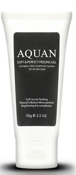 Anskin Пилинг-гель для лица Aquan Soft & Perfect Peeling Gel, 70 мл the yeon lotus roots 365 silky skin bubble peeling gel пилинг гель с экстрактом лотоса 100 мл