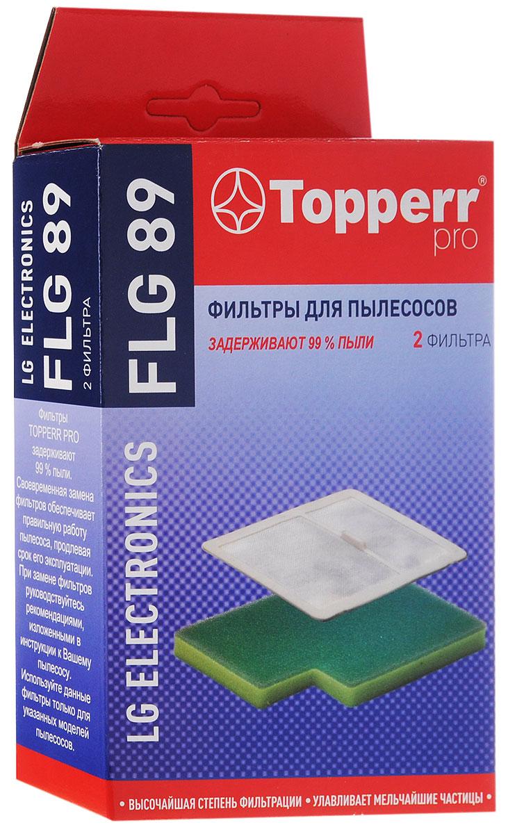 Topperr FLG 89 комплект фильтров для пылесосовLG Electronics topperr l 30 фильтр для пылесосовlg electronics 4 шт