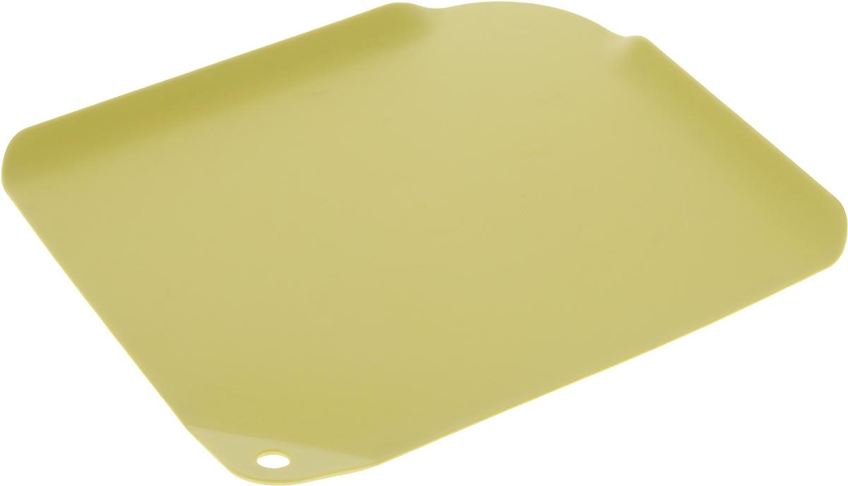 Доска разделочная Apollo Lets create, цвет: желтый, 29,5 х 24,5 смLCT-29_жёлтыйРазделочная доска Apollo Lets create изготовлена из высококачественного пищевого пластика и предназначена для разделывания рыбы, мяса, нарезки овощей, фруктов, колбас, сыра и хлеба. Поверхность доски не тупит лезвия ножей и не впитывает запахи продуктов. В конструкции доски предусмотрены специальные небольшие бортики, которые предотвратят случайное ссыпание продуктов. Для удобства хранения доска имеет отверстие для подвешивания. Мыть только вручную. Размер разделочной доски: 29,5 х 24,5 см.