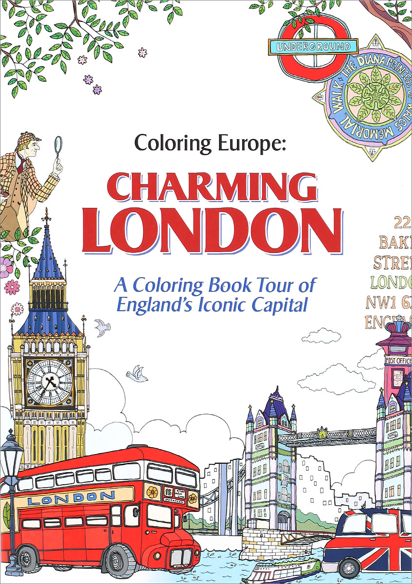 Coloring Europe: Charming London coloring of trees