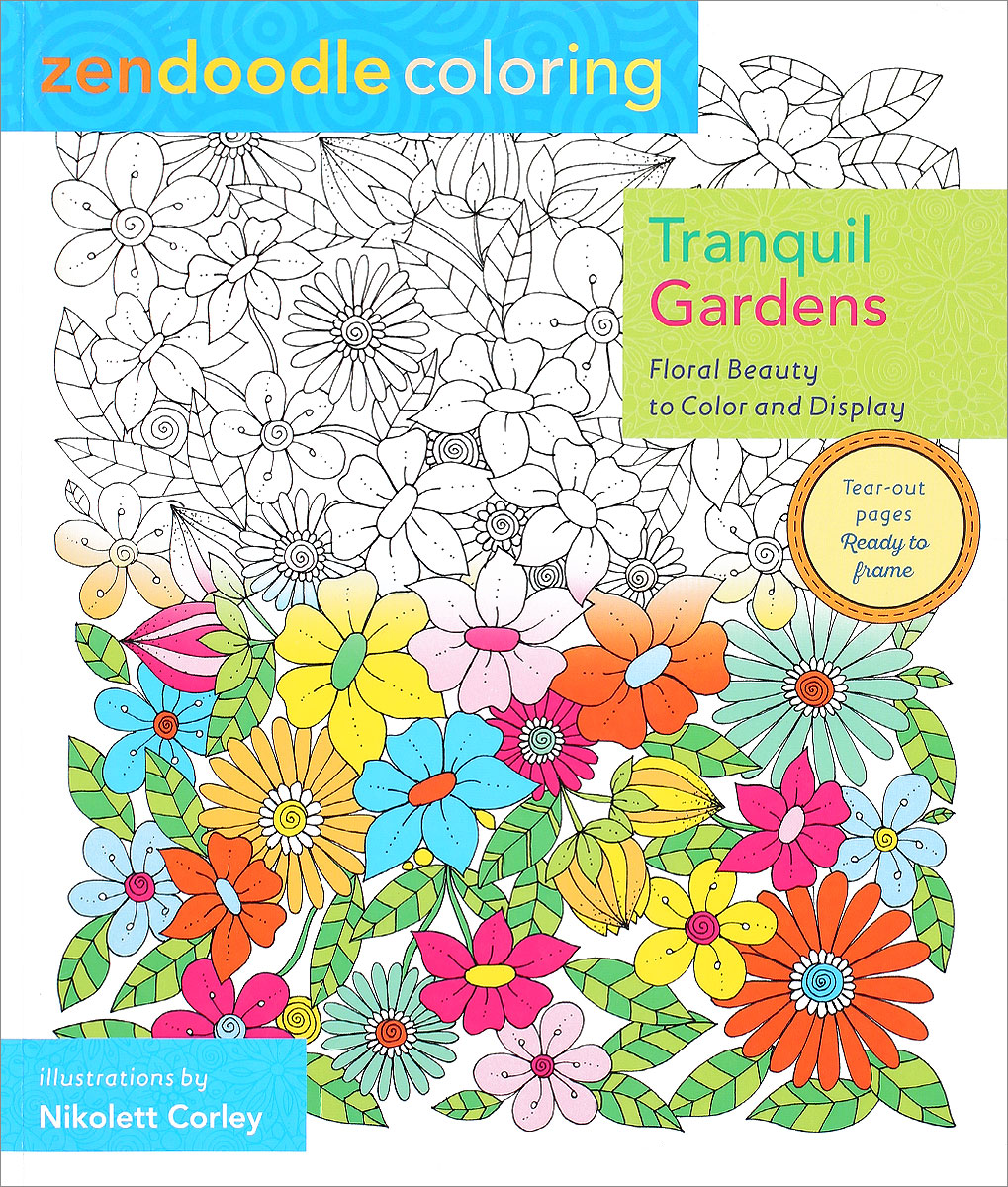 Zendoodle coloring enchanting gardens - Zendoodle Coloring Tranquil Gardens Floral Beauty To Color And Display