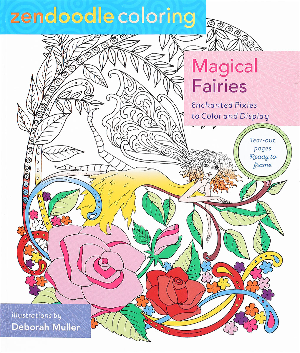 Zendoodle Coloring: Magical Fairies: Enchanted Pixies to Color and Display how to draw fairies and mermaids