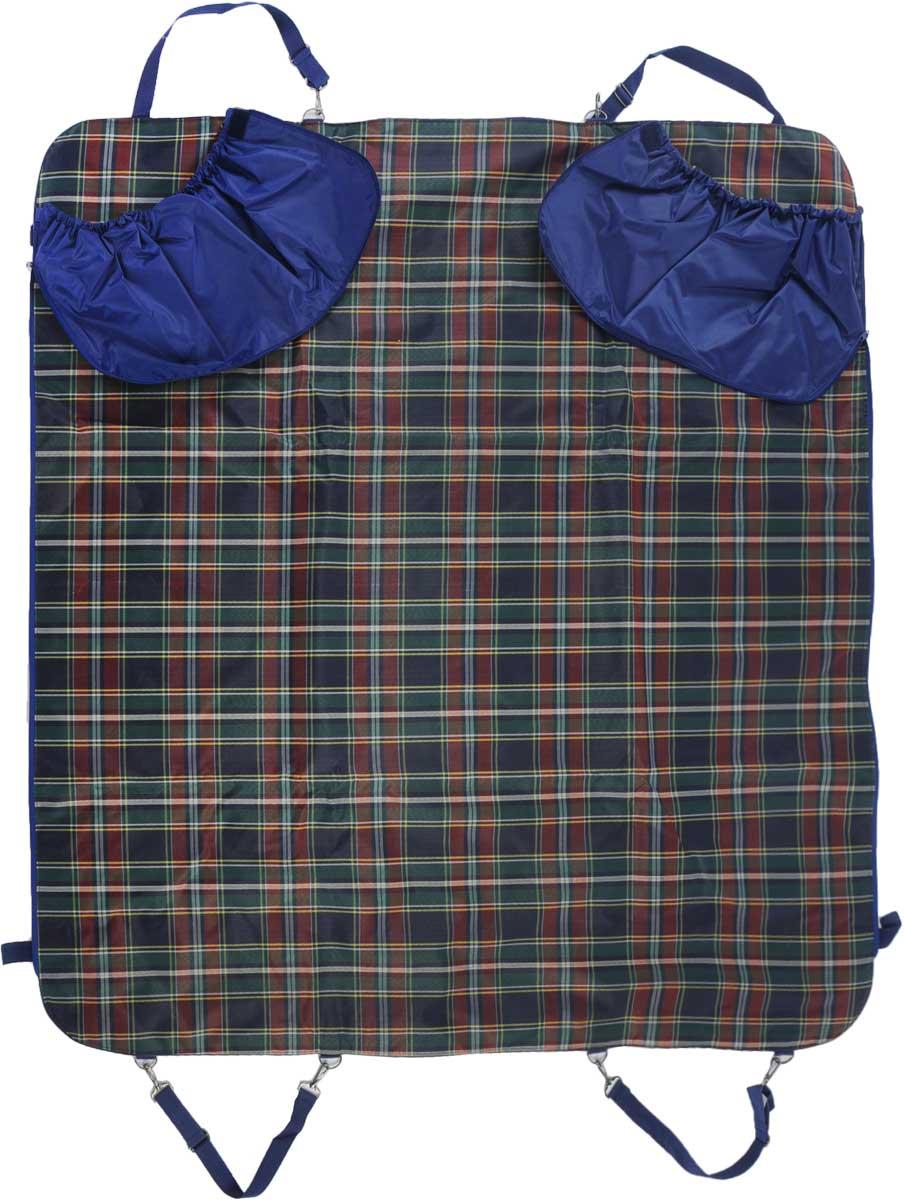 Автогамак для собак Titbit, с бортами, цвет: зеленый, 142 х 140 см