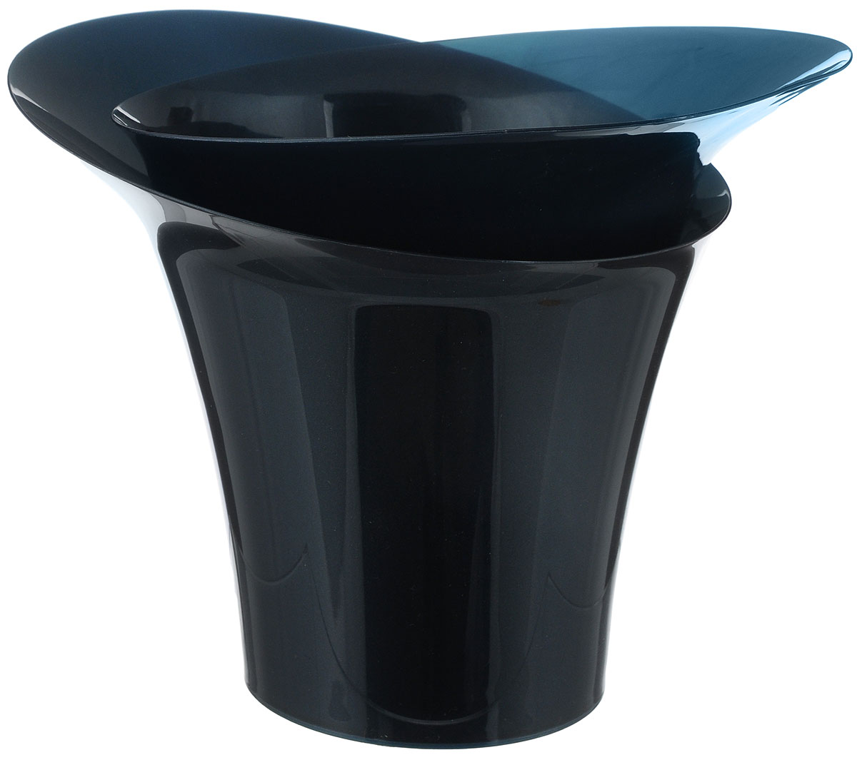 "Горшок для цветов Техоснастка ""Модерн"", цвет: темно-синий, 2,5 л"