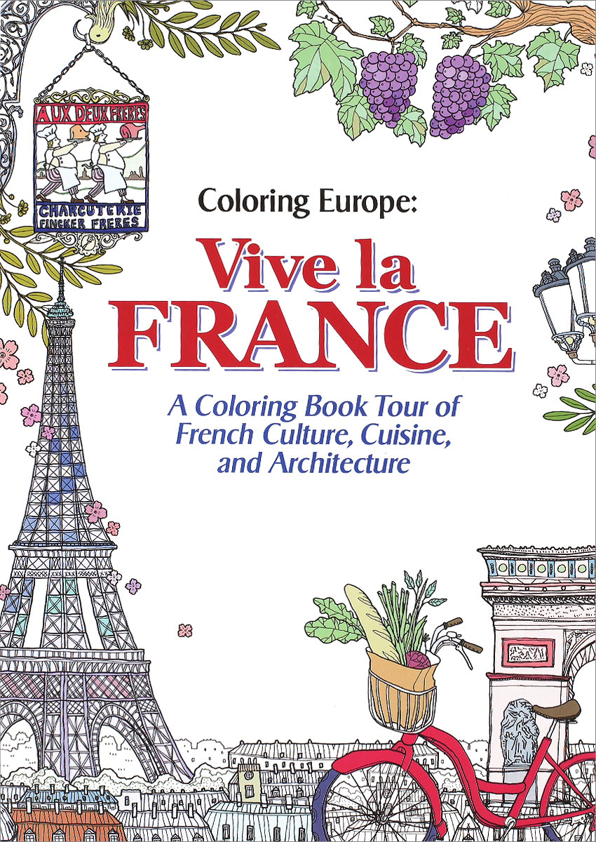 Coloring Europe: Vive la France coloring europe charming london