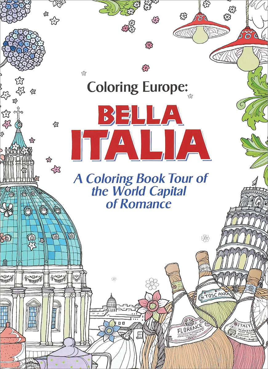 Bella Italia: A Coloring Book Tour of the World Capital of Romance coloring of trees