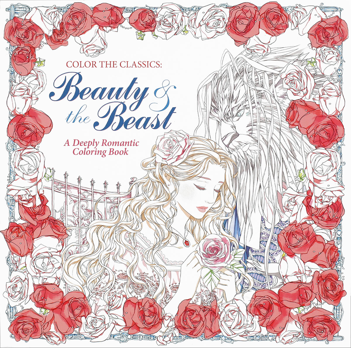 Color the Classics: Beauty & the Beast: A Deeply Romantic Coloring Book coloring of trees