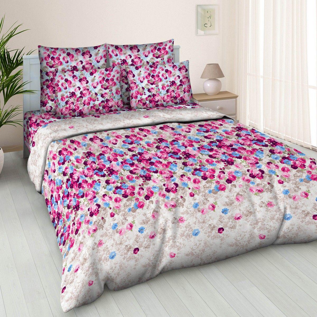 Комплект белья Letto Традиция, 2-спальный, наволочки 70x70, цвет: сиреневый