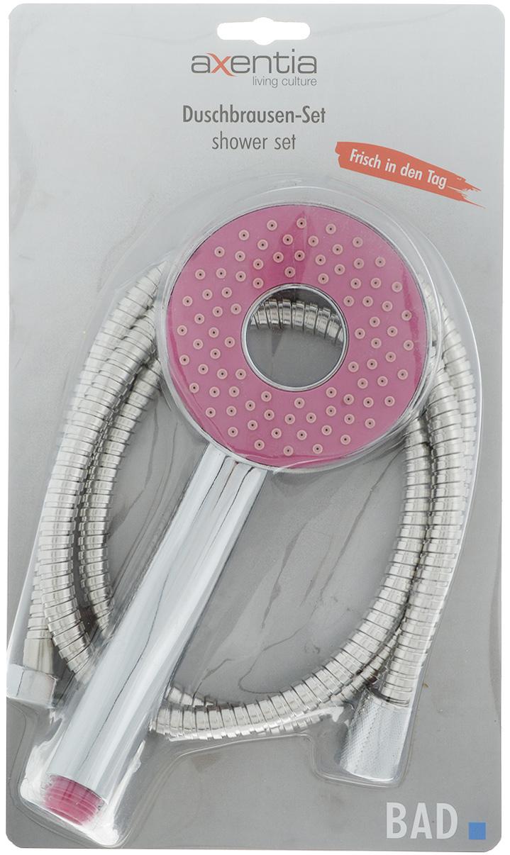Набор для душа Axentia, цвет: стальной, розовый, 3 предмета282812/розовыйНабор для душа Axentia состоит из душа-лейки, шланга изнержавеющей стали и держателя душа для крепления кстене.Душевая лейка изготовлена из высокопрочного ABS пластика,покрытого никель-хромом для придания зеркального блеска.Шланг имеет оплетку из нержавеющей стали. Стеновоекрепление с саморезами и пластиковыми дюбелями.Такой набор украсит ванную комнату и будет служить вамдолгое время.Длина шланга: 1,5 м.Диаметр лейки: 9,5 см.Диаметр шланга: 13 мм.