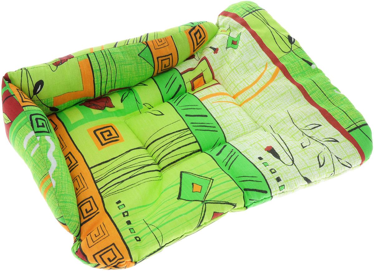 Лежак для животных Elite Valley  Софа , цвет: салатовый, бордовый, 50 х 38 х 12 см. Л-5/2 - Лежаки, домики, спальные места