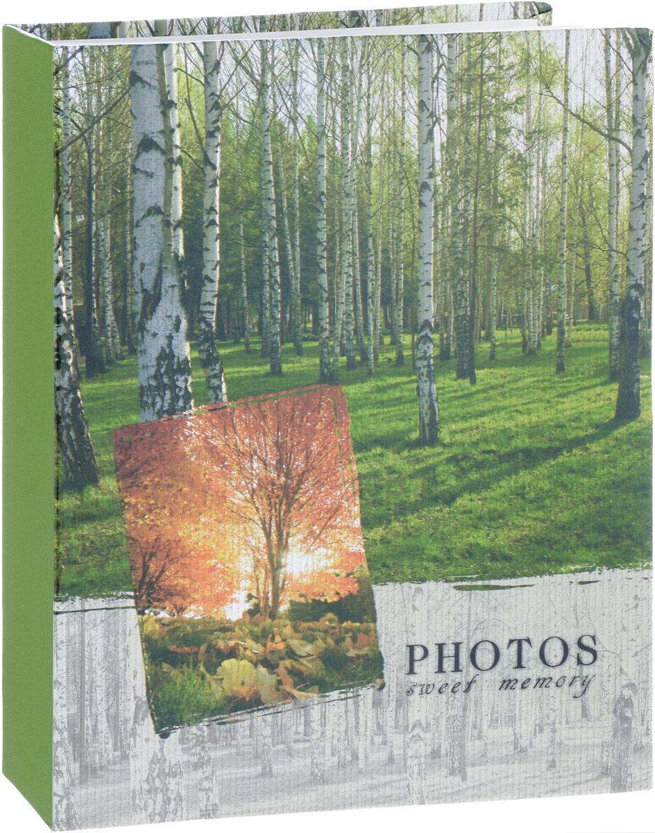Фотоальбом Platinum Ландшафт - 1, 200 фотографий, 10 х 15 см, цвет: зеленый, серый. PP-46200S florentia фотоальбом кожаный aurora 33 х 33 60 листов florentia al33617001