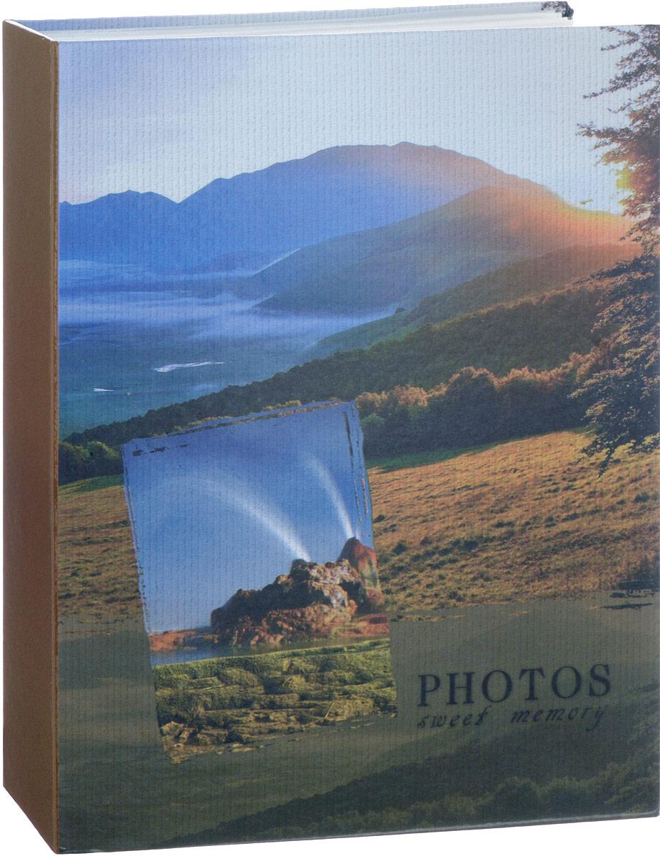 Фотоальбом Platinum Ландшафт - 1, 200 фотографий, 10 х 15 см, цвет: зеленый, голубой, коричневый. PP-46200S фотоальбом platinum ландшафт 1 на 100 фото pp 46100s 12226 1